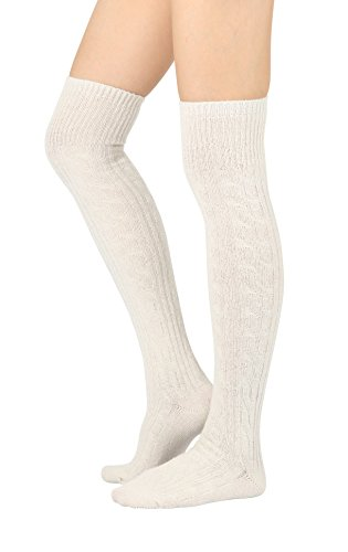 STYLEGAGA Winter Wool Cable Socks