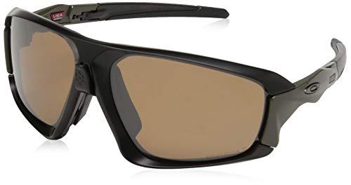 - Oakley Men's Field Jacket Polarized Iridium Rectangular Sunglasses, MATTE BLACK, 64.0 mm