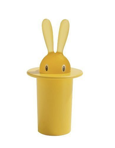 A di Alessi Magic Bunny Toothpick Holder, Yellow