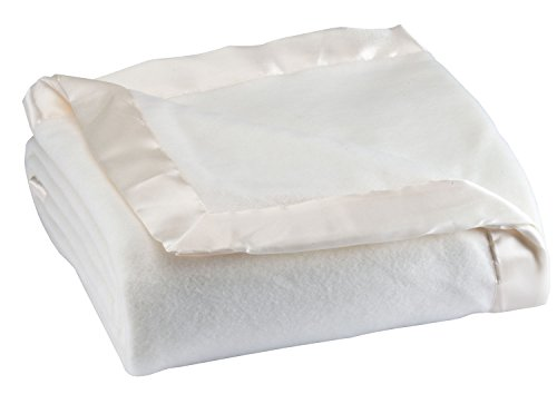 Satin Fleece Blanket King White
