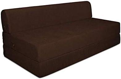 Enjoyable Fold Out Sofa Bed Zen Bed Size 150 X 190 X 20 Cm Brown Creativecarmelina Interior Chair Design Creativecarmelinacom