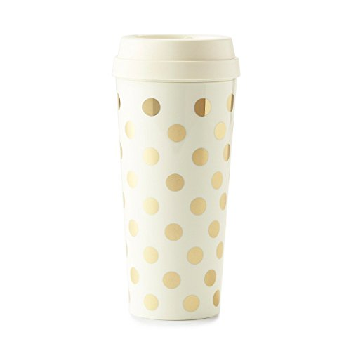Kate Spade New York Thermal Mug, Gold Dot, Gold/Dots