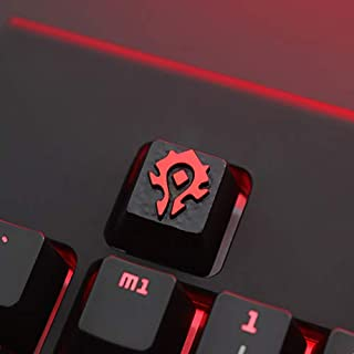 World of Warcraft Horde Alliance Gaming Custom Keycaps for Cherry MX Switches with Keycap Puller - Fits Most Mechanical Keyboards