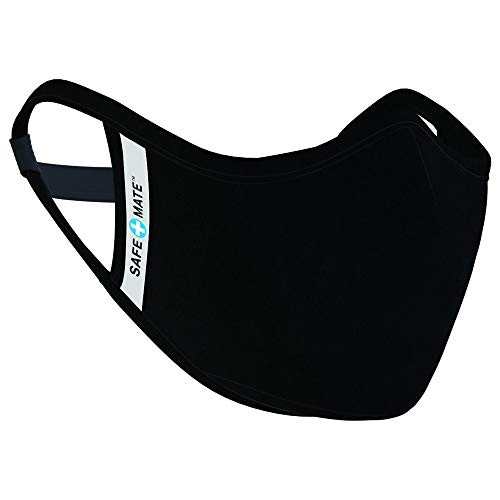 🥇 Safe+Mate x Case-Mate – Cloth Face Mask – Washable & Reusable – Adult L/XL – Cotton – with Filter – Black
