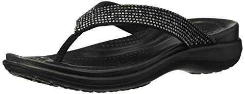 Crocs Women's Capri V Diamante Flip Flop, Ombre/Black, 10 M US