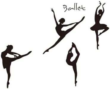 Amazon Com Homemate Home Decor Vinyl Wall Quote Sticker Pretty Ballet Dancers Black Room Decal Art Mural Wallpaper Kitchen Dining