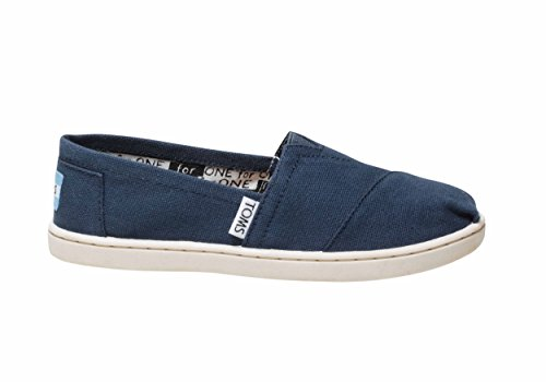 Toms Summer Classics Youth Shoes In Navy Canvas size 6