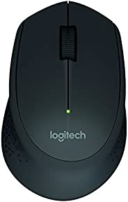 Mouse sem fio Logitech M280 com Conexão USB e Pilha Inclusa - Preto