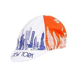5e3c5aa3fdcf1 Giordana 2018 New York City Landmarks Cycling Cap - GI-S5-COCA-TEAM-NYCL  (Blue Orange Landmarks - One Size)