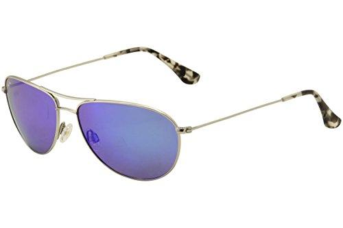 Maui Jim Sunglasses Silver Shiny/Blue Titanium - Polarized - - Maui House Sea