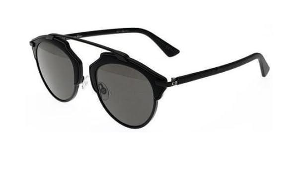 92df9082af78 Amazon.com  New Christian Dior SO REAL RLS LY matte black matte black dark  gray Sunglasses  Clothing