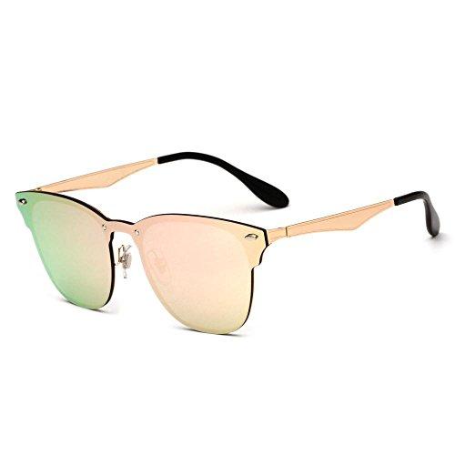 gafas Gafas de Retro damas película de E de gafas sol metal conjoined Aoligei sol remache color hombre dazzle de PtXdwqdT5