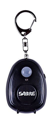 Motion Outdoor Detector Alarm (SABRE Personal Alarm with Motion Detector, Magnet, & Key Ring - LOUD 120dB Alarm - Hear Up to 600' (185m) Away)