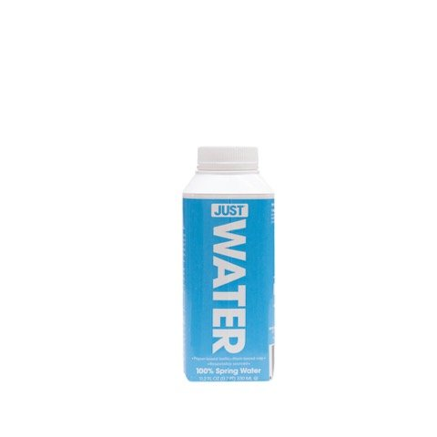 JUST Water, 100% Premium Spring Water in a Paper-Based Recyclable Bottle, Naturally High 8.0 pH and BPA Free, 330 mL (Pack of 24)