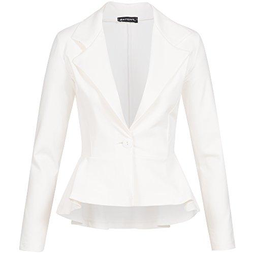 pearl Blanco Mujer De G Para Traje Chaqueta PWAwndqC