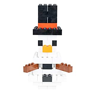 Strictly Briks Building Bricks and Blocks Set | Big Briks Snowman | 100% Compatible with All Major Brick Brands | 57 Pieces
