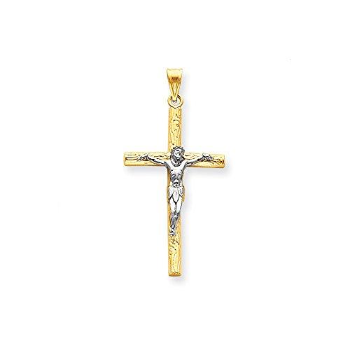 14k Two-tone Crucifix Pendant Two Tone Crucifix Pendant