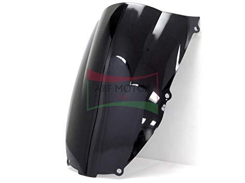 Protek ABS Plastic Injection Black Smoke Double Bubble Transparent Windscreen Windshield for 2000 2001 2002 Kawasaki Ninja ZX6 ZX6R ZX600E ZX600J 2005 2006 2007 2008 Kawasaki ZZR600
