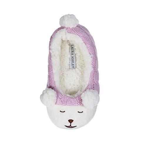 - Laura Ashley Kids Girls Plush Animal Ballerina Slip-Ons Pink Size 13/1
