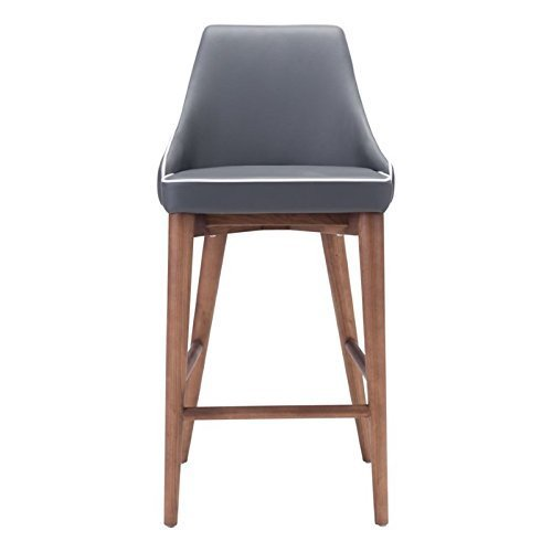 Zuo Moor Counter Chair, Dark Gray