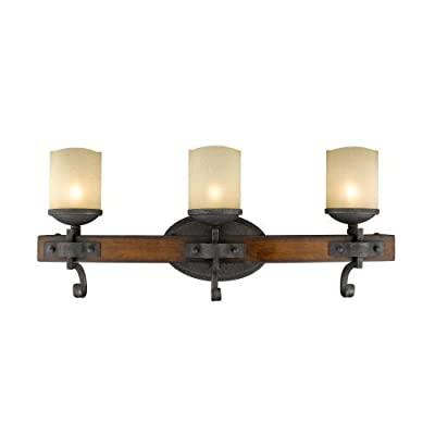 """Golden Lighting 1821-BA3 Madera 3 Light 24.25"""" Wide Bathroom Vanity Light,"""
