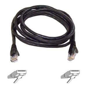 Belkin 25FT CAT6 Black Snagless Patch Cable RJ45M/RJ45M -