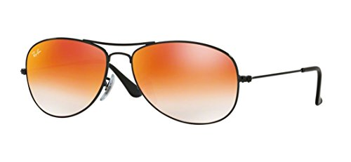 Ray Ban RB3362 002/4W 59M Shiny Black/Orange Gradient - Lenses Ray Flash Bans