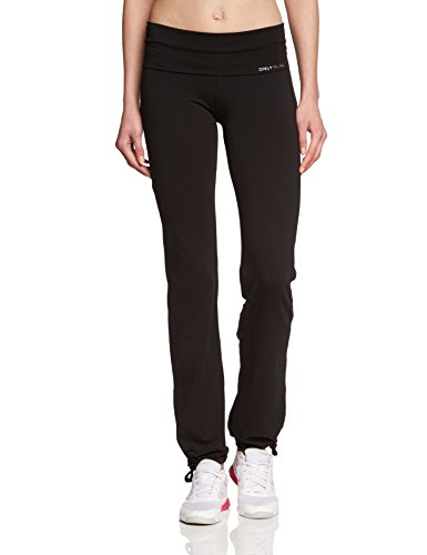 ONLY PLAY Damen Laufhose Fold Jazz Pants Regular Fit, Schwarz, 38/M, 15062199