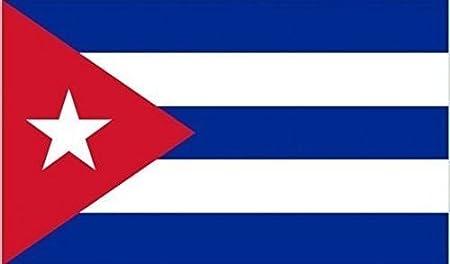Bandera cubana de 45 x 30 cm con mangas de barco de cortesía 100% poliéster que agita la mano, ideal para pubs, clubes, escuelas, festivales, negocios, decoración de fiestas: Amazon.es: Deportes y