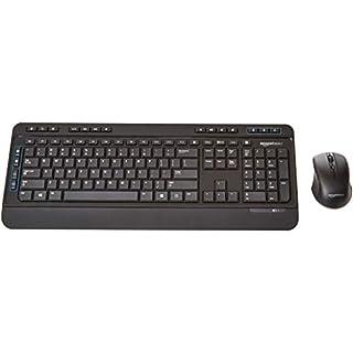AmazonBasics Wireless Computer Keyboard and Mouse Combo - Full Size - US Layout (QWERTY)