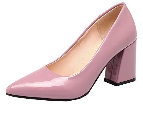 À Unie Tire Tsfdh004519 Aalardom Violet Femme Haut Couleur Talon Légeres Chaussures qa1apxwnU