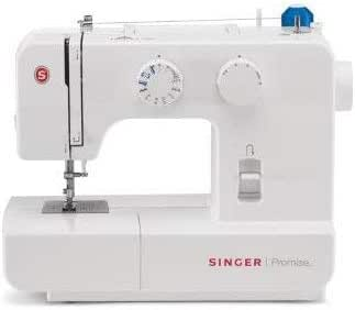 Singer 1409 Promise - Máquina de Coser Mecánica, 9 puntadas, 120 V, color Blanco: Amazon.es: Hogar