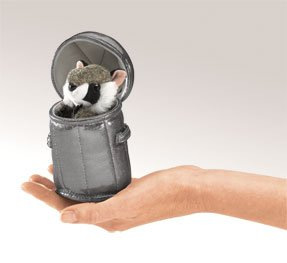 Folkmanis Raccoon in Can Finger Puppet