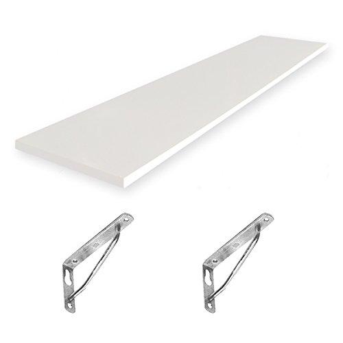 Aceofparts エアーポール 2本タイプ専用棚板 120x30cmタイプ B00LE4LBHM ホワイト ホワイト