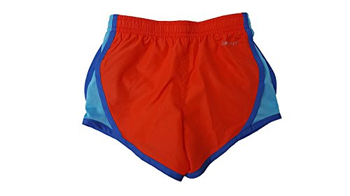 Nike 3.5 Girls Tempo Running Shorts Max Orange (N22) / Light Blue/Embroidered Blue uViBthI