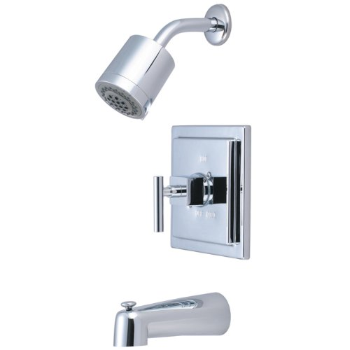 Kingston Brass KB4651CQL Claremont Tub and Shower Faucet, Polished Chrome