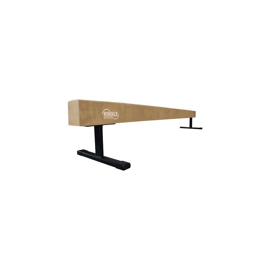 Nimble Sports Tan Suede High Balance Beam, 8 Feet Long, 12 Inches High