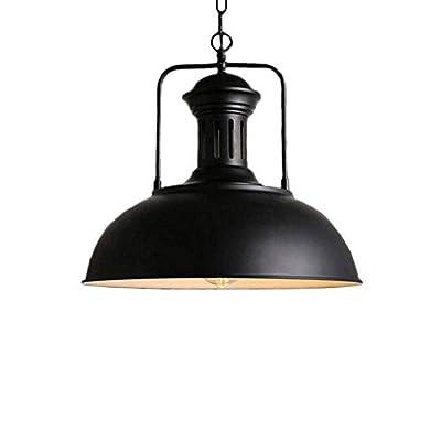Vintage Metal Industrial Chandelier, Industrial Retro Pendant Light Ceiling Lighting Chandelier 1-Light with Chain