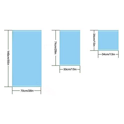Color Sólido Juego de 3 Toallas de Baño 100% Algodón Absorbencia Rápida 1 Toalla de Baño 1 Toalla de Mano 1 Toalla de Cara Azul Celeste: Amazon.es: Hogar