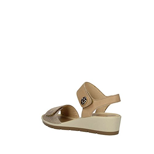 In Wedge 1281644 Leather Made Women's Mink In Sandal Enval Double Soft Velcro Italy tAq4n6xP