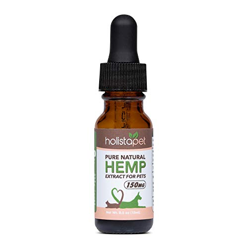 HolistaPet Hemp Oil for Dogs & Cats – Made in The U.S.A. – 100% Organic Hemp Oil – Supports Pain, Anxiety, and Hip…
