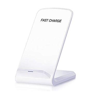 Cargador inalámbrico rápido con certificación Qi, Soporte de Carga rápida de 10 W Trabajo para iPhone XS MAX/XR/XS/X / 8/8 Plus Samsung Galaxy S9 / S9 ...