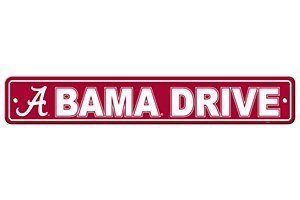 NCAA Alabama Crimson Tide Street Sign, 4