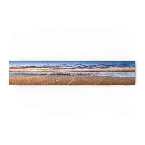 Edwiinsa Landscape Cotton Linen Table Runner Rectangle Plate Mat Outdoor Rug Runner for Coffee Dining Banquet Home Decor, Beautiful Sunrise Over The Horizon Tropical Sea Ocean, 13 x 90 inch