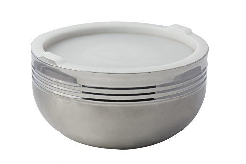 Bon Chef 9316 Stainless Steel 3 Wall Cold Wave Bowl with Stacking Cover, 7 quart Capacity, 11-7/8'' Diameter x 6-1/2'' Height by Bon Chef