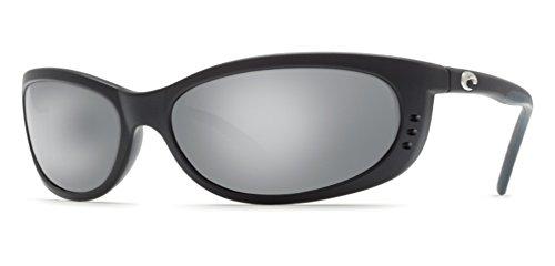 Costa Del Mar Fathom 580P Fathom, Black Silver Mirror, Silver - Costa Fathom Sunglasses