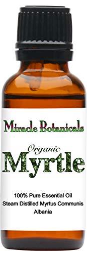 Miracle Botanicals Organic Myrtle Essential Oil - 100% Pure Myrtus Communis - 10ml or 30ml Sizes - Therapeutic Grade - 30ml/1oz.