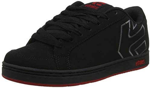 Etnies Men's Kingpin 2 Skate Shoe, Black/Dark Grey/red, 10.5 Medium US