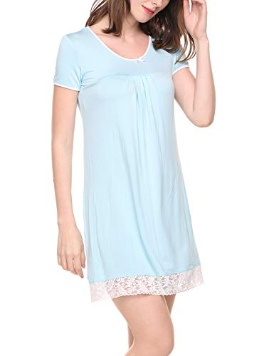 (HOTOUCH Sleep Dress for Women/Sleepwear Light Blue)