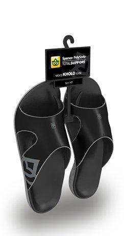 Spenco Polysorb Total Support Kholo Sandals, Black/Pewter, Men's 9 by Spenco